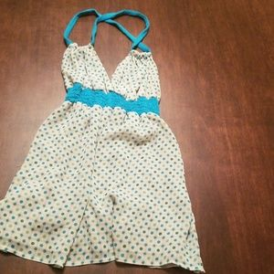 Blue and white Guess Halter top